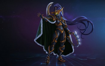 characters,maiev,elf,Concept Art,Night Elf,Shadowsong,by Kazbek Dzasezhev,Maiev Shadowsong,арт,Kazbek Dzasezhev,warcraft,fantasy