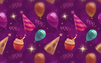 birthday,balloons,кексы,background,капкейки,Tekstura,фон