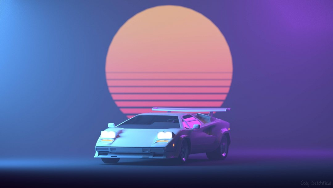 Cody Setchfield,lamborghini countach,80s,Ретровейв,Синтвейв,Outrun,Lamborghini,80s,Futuresynth,New Retro Wave,фон,Synth,countach,Retrowave,synthwave,музыка