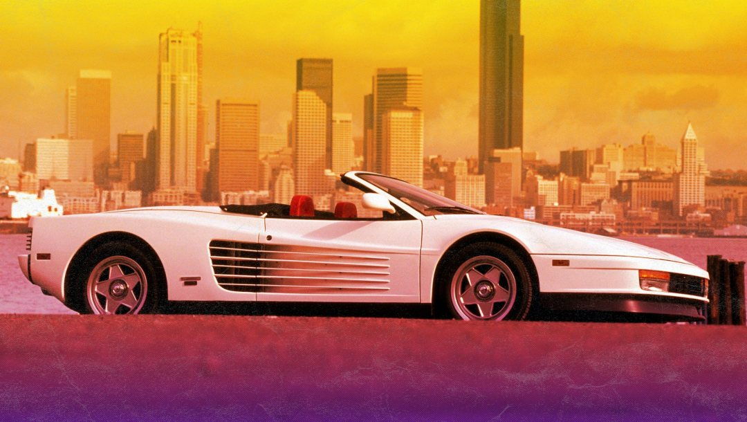 Феррари,Город,Ferrari Testarossa 512 TR,Retrowave,Synth,Vhs,Futuresynth,Ретровейв,80s,80s,Синтвейв,New Retro Wave,512 tr,testarossa,synthwave
