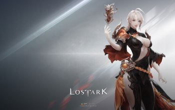 simple background,Magician,girl,elf,Magic,Lost Ark,game