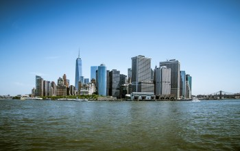 манхеттен,сша,#Sea,Нью-Йорк,buildings,manhattan,usа,city,здания,new_york,море