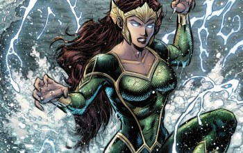 artwork,#Sea,redhead,suit,fantasy art,superhero,splashes,crown,fantasy,DC Comics,girl,Aquaman,comics,Mera