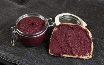 Homemade,хлеб,Nutella with beet