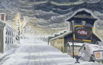 Clearing after a Snowstorm,1917,Charles Ephraim Burchfield