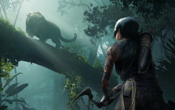 lara croft,beast,Shadow of the Tomb Raider,game,jungle