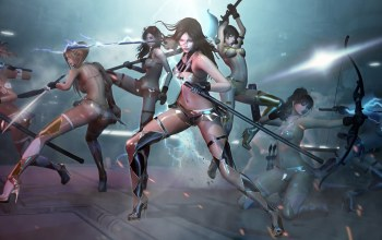 Cyberpunk,SecondLife,future,sexy,fighter,Draw Your Weapons