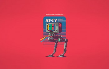 арт,AT-TV,#минимализм,robot,All Terrain television,Телевизор,In the year 2980 war is for color,robot