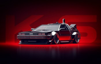 Khyzyl Saleem,Concept Art,машинa,avto,delorean dmc-12,dmc-12,арт,арт,Transport & Vehicles,Experimentation