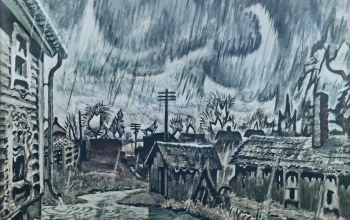 1917-55,Night of the Equinox,Charles Ephraim Burchfield