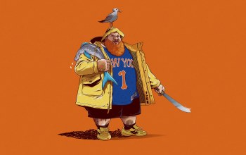 ChrisBMurray,арт,New York Knicks,Action Bronson,#минимализм,Нью-Йорк Никс,хип хоп,Fan art,чайка,by ChrisBMurray,rap,арт,«рыба»,new_york,Knicks