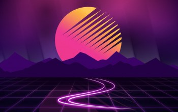 synthwave,Outrun,Синтвейв,Retrowave,Ретровейв,музыка,Synth,солнце,80s,арт,Звезда,горы,New Retro Wave,Futuresynth,фон,80s