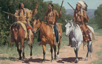 painting,Call To The Little Bighorn,Mann,картина,живопись