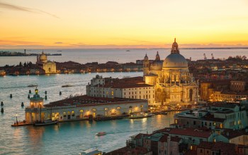 Basilica,Город,Cityscape,(италия),Canal+,santa maria della salute,italy,travel,city, закат,Панорама,канал,view,венеция,europe,cathedral,venice