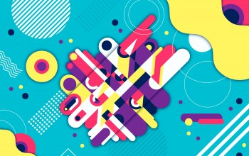 colorful,Geometric,фон,rounded,background,shapes,абстракция,Abstract,геометрия