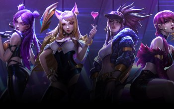 cover,league of legends,girls