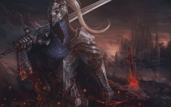Sergey Olson,Фантастика,Fan art by dark souls,Рыцарь,game art,доспехи,by Sergey Olson,knight,sword,Mech,арт,арт,Dark Souls,fantasy