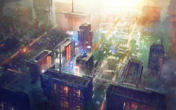 Concept Art,Cyberpunk,scifi,Big City,Science Fiction,Concept Design,sctructure