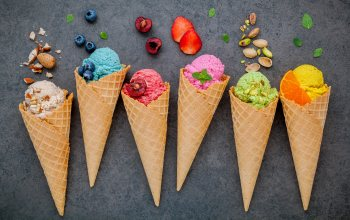berries,colorful,ягодьі,рожок,fruit,фрукты,cone,ice-cream,мороженое