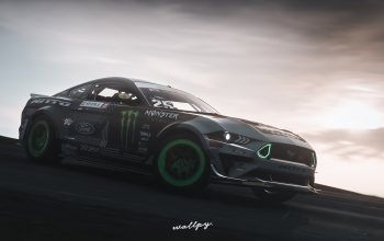 форд,2019,game art,rtr,Monster Energy,by Wallpy,«мустанг»,microsoft,Forza Horizon 4