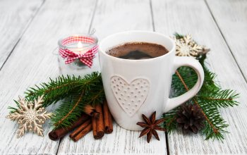 holiday celebration,Новый Год,кофе,christmas,Рождество,merry-christmas,корицa,coffee,украшения,елка,шишки,decoration,чашкa,xmas