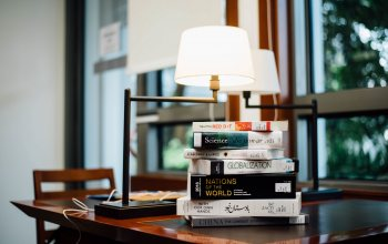 books,background,lamps,блур,bokeh,table