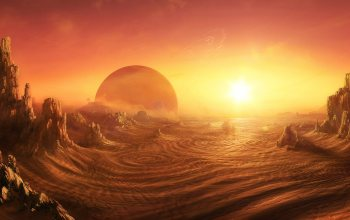 Daniel Kvasznicza,sunrise on alien planet,пустыня