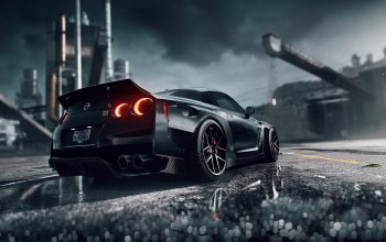 avto,машинa,Dark Knight,Mikhail Sharov,Nissan GT-R R35,game art,Need for Speed: Heat,ниссан,heat,нфс,Спорткар,чёрный,Черный цвет,GT-R R35,game,Transport & Vehicles,Need for Speed,by Mikhail Sharov