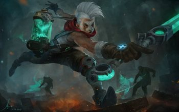 арт,league of Legends,Ekko,igra,lee kent,fantasy