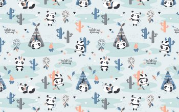 4k ultra hd background,cute,pandas,funny,textures,паттерн