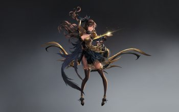 character,arrow,арт,dress,Archer Gril,girl,style,illustration,figure,fantasy,maho,background