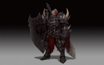 background,арт,Junq Jeon,armor,minimalism,fantasy,shield,style,illustration,character,«warrior»