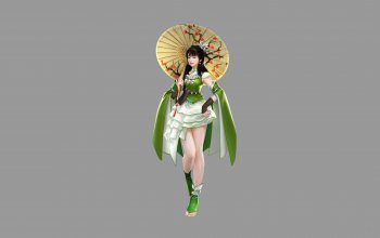 umbrella,style,арт,Hotduck Yoon,minimalism,dress,illustration,Pretty Woman,figure,character,girl,asian,background,Clan shadow of the moon