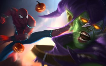 Norman Osborn,fight,comics,Spider-Man:,арт,Марвэл,Peter Parker,Green Goblin
