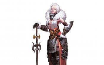 queen,White,арт,armor,girl,Queen of the snowy,sword,CHOI kwangsoon,minimalism,characters