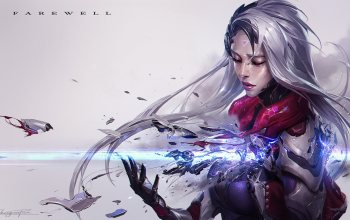 artwork,fantasy girl,fantasy,cyborg,Катарина,fantasy art,game,Farewell,league of Legends,digital art,girl