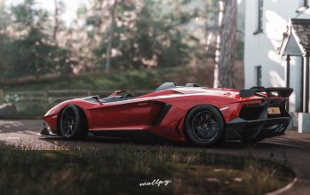 Lamborghini,microsoft,by Wallpy,game art,2018,Forza Horizon 4,aventador-j