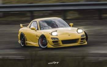 Forza Horizon 4,microsoft,rx-7,game,by Wallpy,2018,Mazda