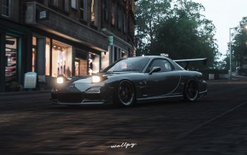 microsoft,Mazda,by Wallpy,game,Forza Horizon 4,2018,rx-7