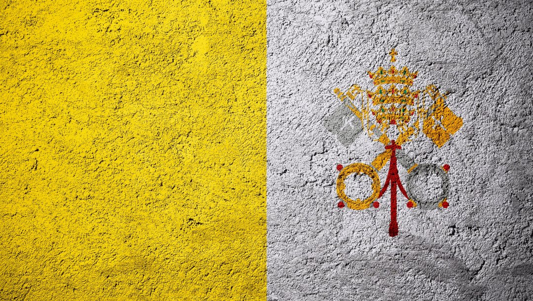 Flag Of Vatican City,Vatican City Flag,europe,Vatican City,Stone Background,Flags On Stone,Concrete Texture