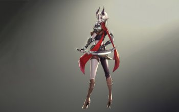 style,illustration,minimalism,fantasy,girl,Assassin girl,dagger,демон,Horns,арт,background,character,kyu min Hwang
